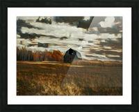 barn um Picture Frame print