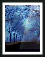 study in blue Picture Frame print
