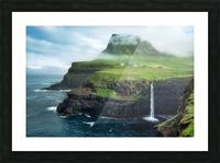 Múlafossur Waterfall Picture Frame print