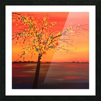 Summer Sunset Picture Frame print