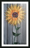 Jeweled Daisy Picture Frame print