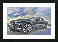 ford mustang  Picture Frame print