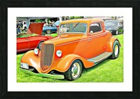 hot rod classic car  Picture Frame print