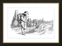 Traveler On A Country Road_OSG Picture Frame print