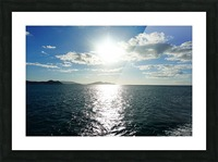 Sea Sun Picture Frame print