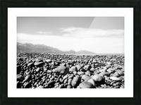 Pebbles on beach Picture Frame print