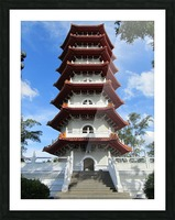 Pagoda Picture Frame print