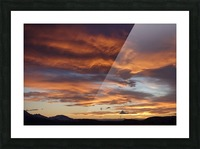 Icelandic Sunrise Picture Frame print