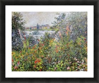 Flowers at Vetheuil Picture Frame print