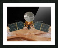 Artists concept of the Mars Reconnaissance Orbiter. Picture Frame print
