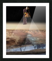 Artists View of Odyssey Detecting Ice. Picture Frame print