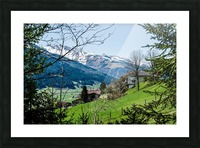 In The Alps Picture Frame print