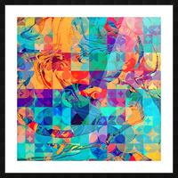 Geometric X Picture Frame print