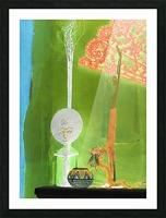 Altar to Unnamed Gods -- Kiwi Green Picture Frame print