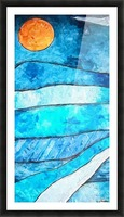 Blue Sunrise Picture Frame print