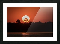 Sunset of Zimbabwe Picture Frame print