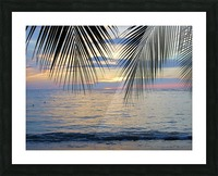 Tropical Sunset 4 Picture Frame print