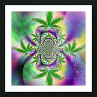 Marijuana Leaf Picture Frame print