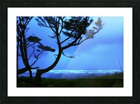 Long Exposure Night Coast Picture Frame print