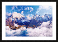 Mountains Artwork II Picture Frame print