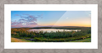 French Lake Sunset Picture Frame print