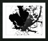 Surprise Black and White Picture Frame print
