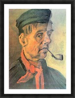 Head of a farmer with a clay pipe by Van Gogh Picture Frame print