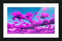 Vivid Purple Cloudscape Picture Frame print