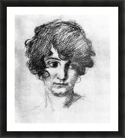 Head of the daughter of the artist, Lorli  by Albin Egger-Lienz Picture Frame print