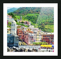 Colorful village of Cinque Terre Picture Frame print