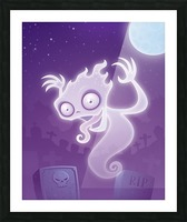 Ghost in the Graveyard Picture Frame print