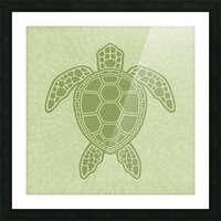 Green Sea Turtle Picture Frame print