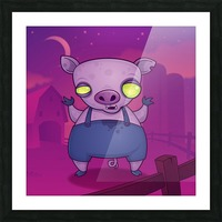 Zombie Pig Picture Frame print