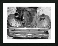 Rusty Old Truck B&W Picture Frame print