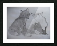 Fox Pair Picture Frame print