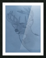 Maine Deer Picture Frame print