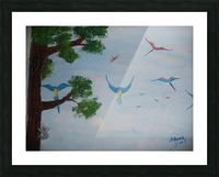 Macaw family Picture Frame print