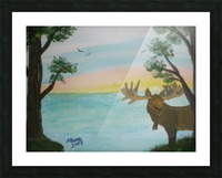 Maine Moose Picture Frame print