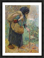 Old Peasant Woman Picture Frame print