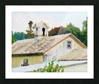 Cummington Barn Roofs Picture Frame print
