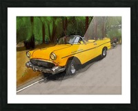 Cuba Yellow Car Picture Frame print