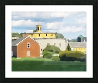 Hancock Shaker Village Round Stone Barn and Brick Poultry House Picture Frame print