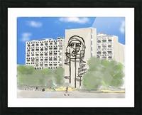 Cuba Revolution Square Picture Frame print