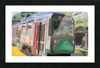 MBTA Green Line Trolly Picture Frame print