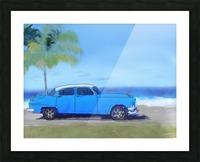 Cuba Blue Car Picture Frame print