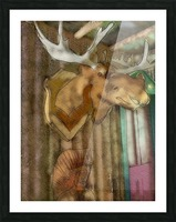 The Hedges Moose Head Picture Frame print