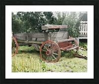 Cummington Wagon Picture Frame print