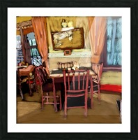 The Hedges Dining Room Picture Frame print