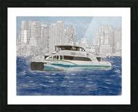 MBTA Hingham-Hull Ferry Picture Frame print