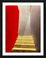 Mexico Oaxaca Stairway Picture Frame print
